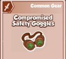 Compromised Safety Goggles