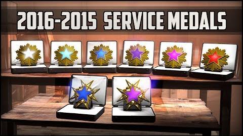 CSGO 2016-2015 Service medals (Interactive Video)