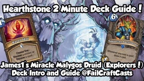 James1's Miracle Malygos Druid (Raven Idol)! Hearthstone 2 Minute Deck Guide