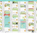 Adrien's schedule