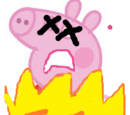 Peppa gets cooked