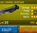 Double Barrel Shotgun