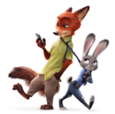 Nick and judy zootopia renders.png