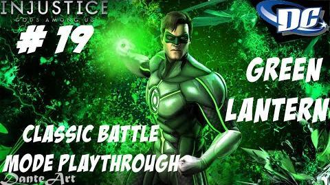 INJUSTICE GODS AMONG US PS3 BEWARE MY POWER, GREEN LANTERN'S LIGHT!!! - CLASSIC BATTLE