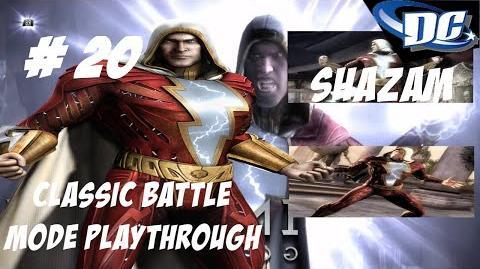 INJUSTICE GODS AMONG US PS3 SHAZAM! CAPTAIN MARVEL IS BACK - CLASSIC BATTLE
