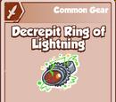 Decrepit Ring of Lightning