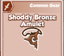 Shoddy Bronze Amulet