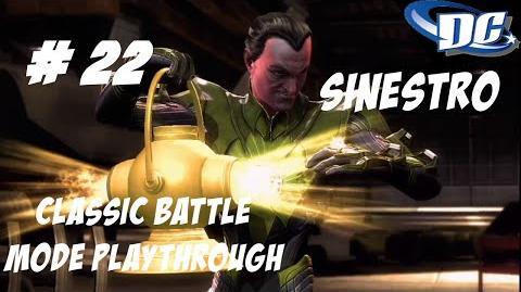 INJUSTICE GODS AMONG US PS3 FEAR MY POWER, YELLOW LANTERN'S LIGHT!!! - CLASSIC BATTLE
