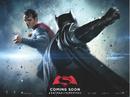 Batman v Superman Dawn of Justice quad poster - Superman facing Batman.png