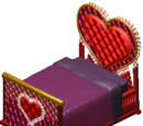 Heart-shaped bed