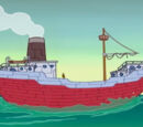 Mr. Krabs' cargo ship