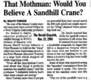 That Mothman: Would You Believe A Sandhill Crane?