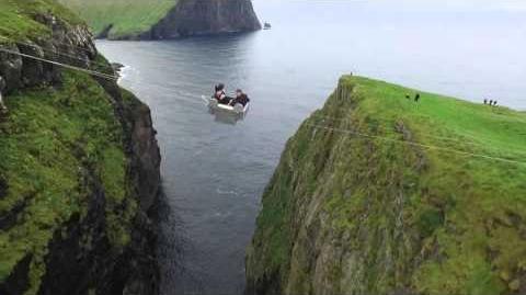 Aerial Faroe Islands Stakkurin Sheep Gathering and Auction in Tjørnuvík - aerial footage only