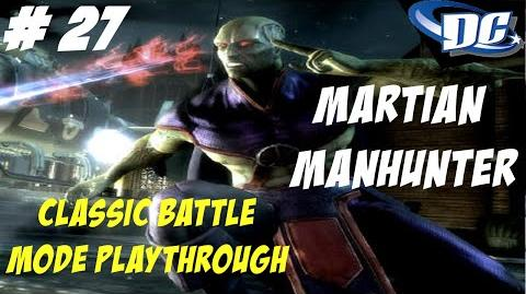 INJUSTICE GODS AMONG US PS3 THE MARTIAN THAT DEFEND THE EARTH - CLASSIC BATTLE