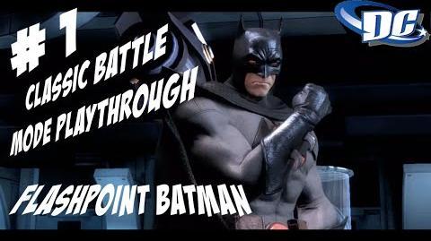 INJUSTICE GODS AMONG US PS3 - BATMAN CLASSIC BATTLE FLASHPOINT SKIN