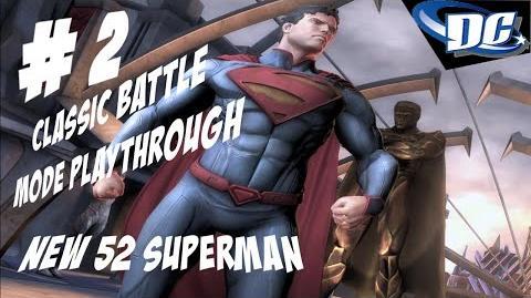 INJUSTICE GODS AMONG US PS3 - SUPERMAN CLASSIC BATTLE NEW 52 SKIN