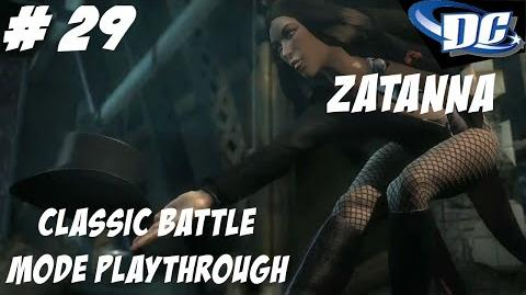 INJUSTICE GODS AMONG US PS3 ITS TIME FOR MAGIC - ZATANNA CLASSIC BATTLE