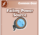 Failing Power Source