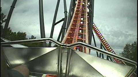 Abismo Roller Coaster Front Seat POV - Parque de Atracciones Madrid
