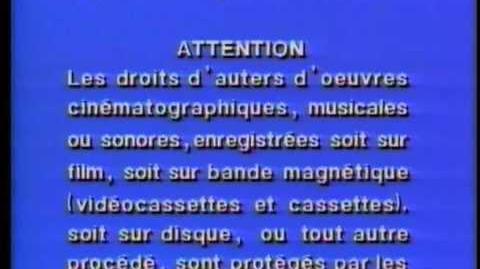 Warner Bros. FBI Warning Scroll (1982)
