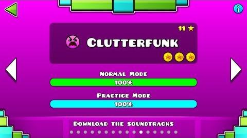 Geometry Dash - Level 11 Clutterfunk (All Coins)