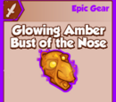 Glowing Amber Bust of the Nose
