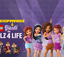 The Chipmunks & Lego Friends in Girlz 4 Life