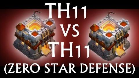 TH11 vs TH11 War Base -- Great Defense for Zero Stars