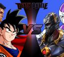 Goku and Superman vs Frieza and Darkseid