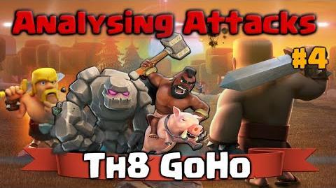 Clash of Clans Analysing Attacks - GoHo TH8 Attack Strategy - 3 Star CoC War Raid