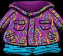 Purple Whirl Snowsuit