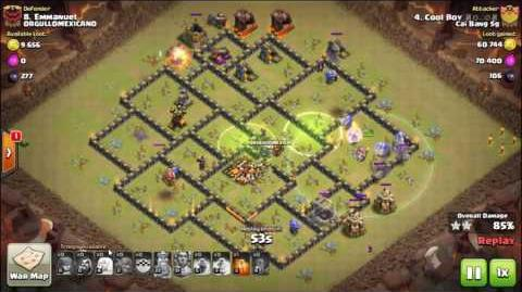 Clash of Clans - Bowler Attack ! TH10 Attack strategy 4