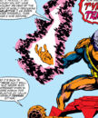 Benjamin Grimm, Tyros, Tyros's Sky-Sled, Tyros's Techno-Suit (Earth-616) from Fantastic Four Vol 1 259.jpg