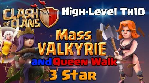 Clash of Clans TH10 3 Star Attack - Mass Valkyrie and Queen Walk Strategy - High-Level War Base