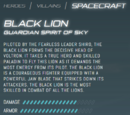 Black Lion (Legendary Defender)/Gallery