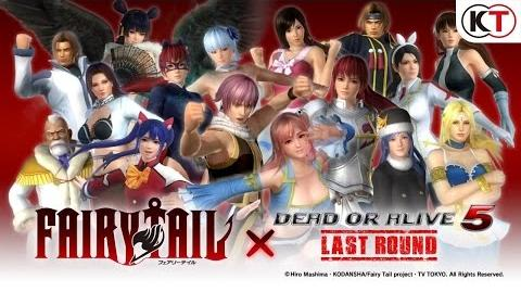 DEAD OR ALIVE 5 LAST ROUND - FAIRY TAIL MASHUP COSTUME TRAILER