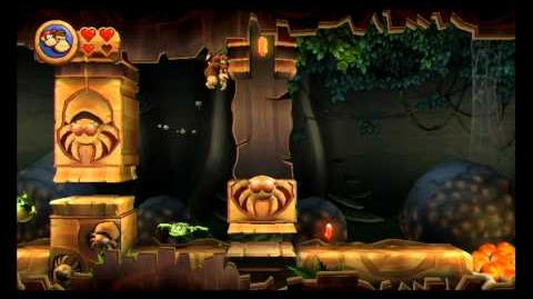 Donkey Kong Country Returns ~ World 5-8 (Muncher Marathon) Puzzle Piece K-O-N-G Letters Guide