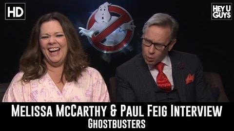 Ghostbusters Interviews - Paul Feig & Melissa McCarthy