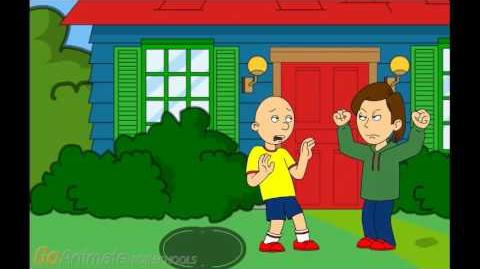 Caillou Pees On The Grass And Gets Grounded