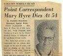 Point Correspondent Mary Hyre Dies at 54