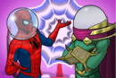 Peter Parker (Earth-TRN562) and Quentin Beck (Earth-TRN562) from Marvel Avengers Academy 001.png