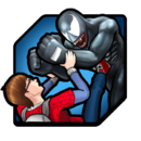 Peter Parker (Earth-TRN562) and Edward Brock (Earth-TRN562) from Marvel Avengers Academy 001.png