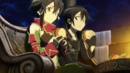 Sinon and Kirito eating in Hollow Area.png