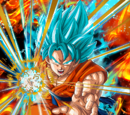 A God Evolved Super Saiyan God SS Goku