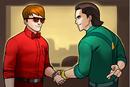 Matthew Murdock (Earth-TRN562) and Loki Laufeyson (Earth-TRN562) from Marvel Avengers Academy 001.png