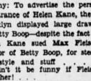 Helen Kane Uses Betty Boop For Her Fox Brooklyn Personal Appearance