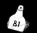 Бирка 81 из скотобойни Колдвинд