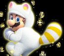 Mario tanuki blanc