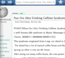 Pass Out After Drinking Caffeine Syndrome