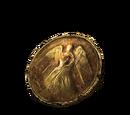 Ржавая золотая монета
